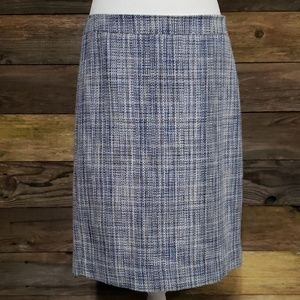 J. Crew No. 2 Pencil Skirt in Basket-Weave Tweed